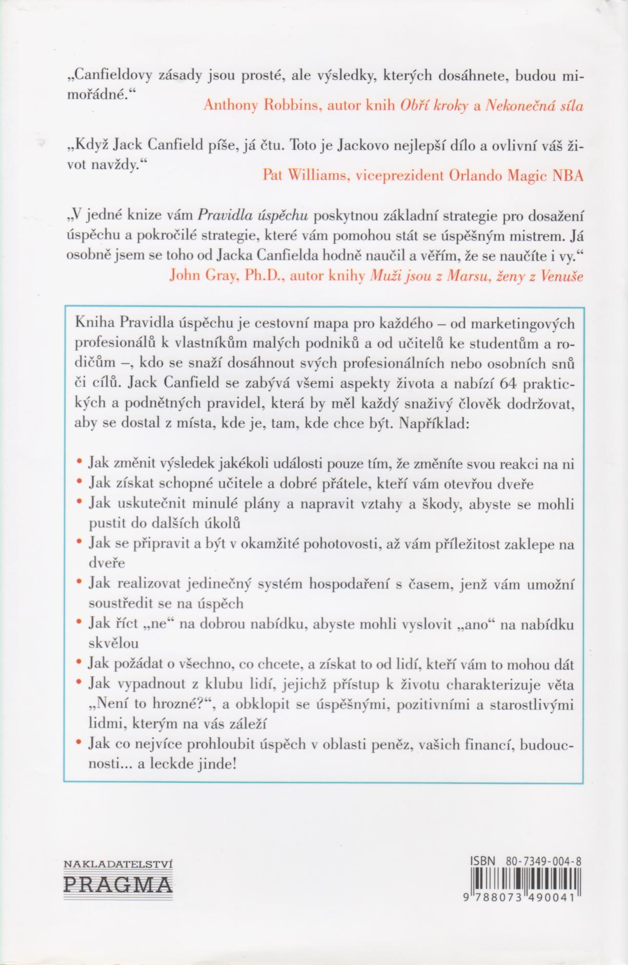 Jack Canfield - Pravidla úspěchu